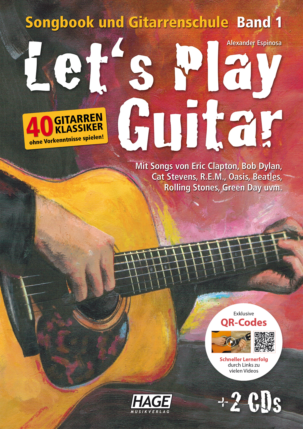 Let's Play Guitar Band 1 (mit 2 CDs und QR-Codes)