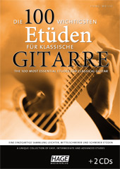 The 100 most important etudes for classical guitar (with 2 CDs)
