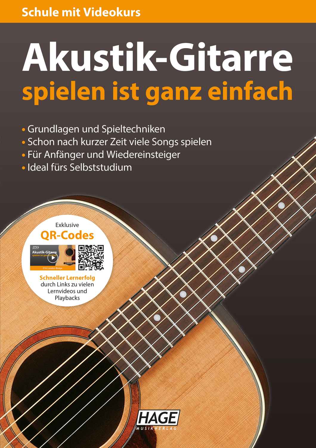 Playing acoustic guitar is very easy (with QR codes)