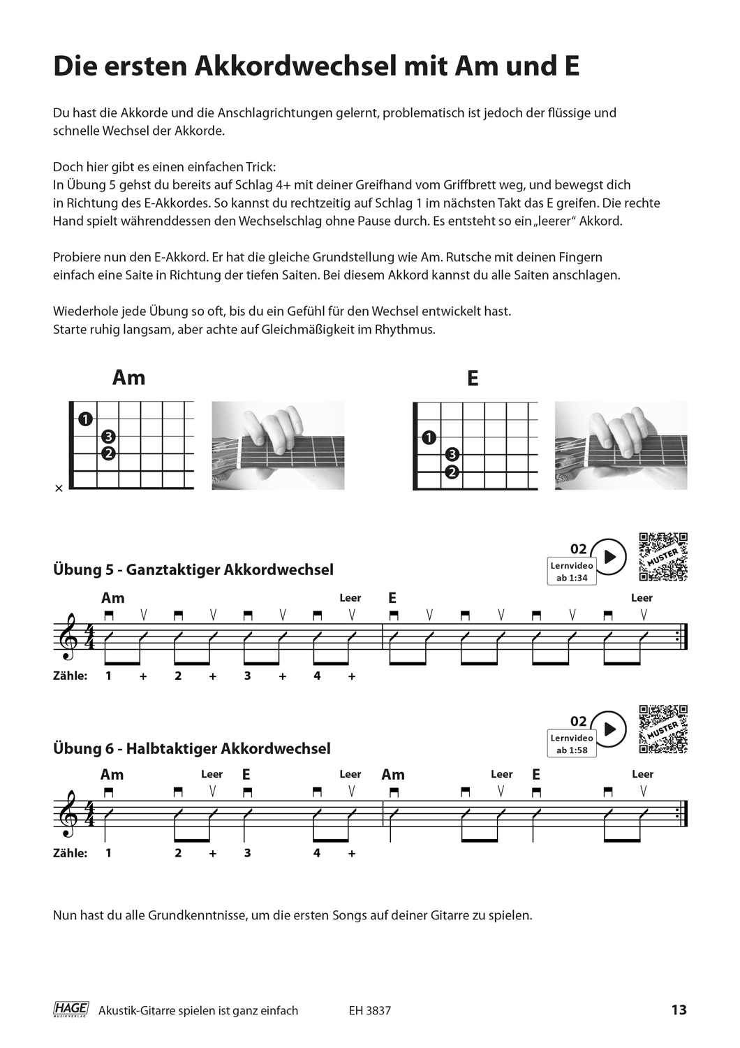 Playing acoustic guitar is very easy (with QR codes) Pages 5