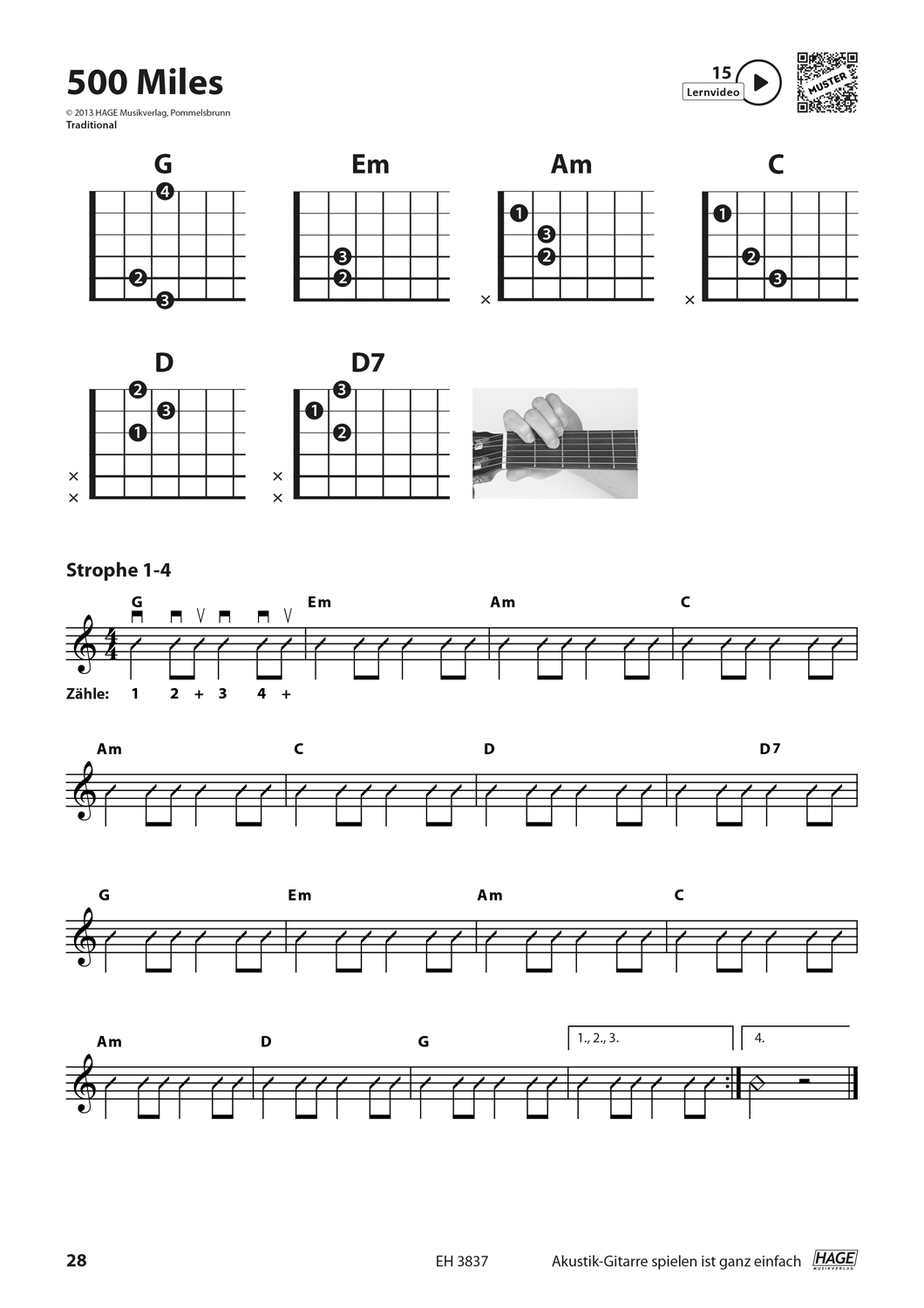 Playing acoustic guitar is very easy (with QR codes) Pages 6