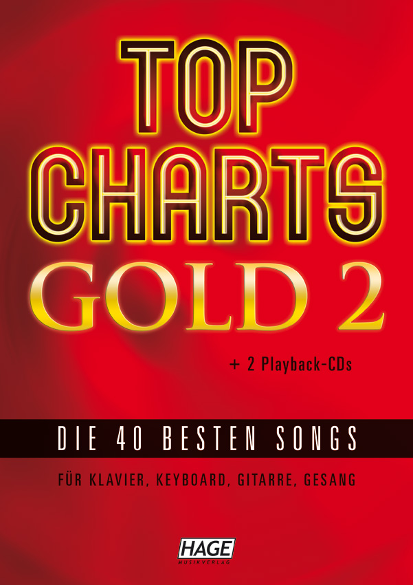 Top Charts Gold 2 (mit 2 CDs + Midifiles, USB-Stick)
