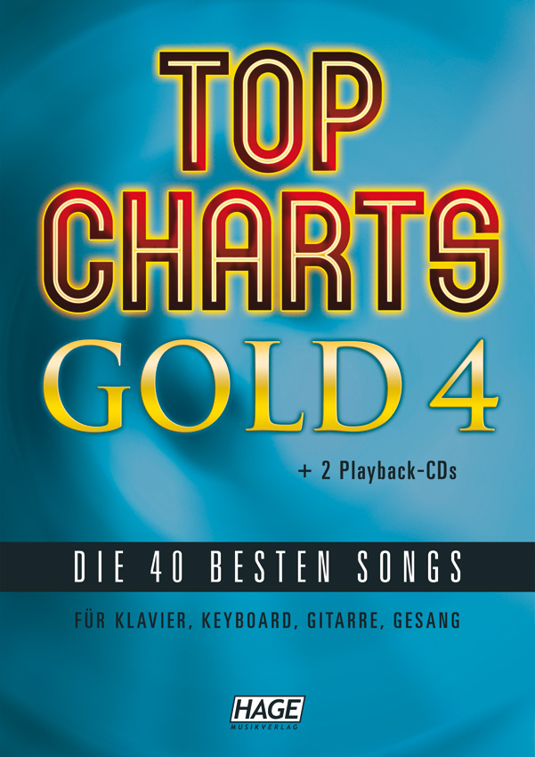 Top Charts Gold 4 (mit 2 CDs + Midifiles, USB-Stick)