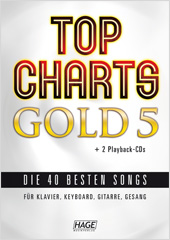 Top Charts Gold 5 (mit 2 CDs + Midifiles, USB-Stick)