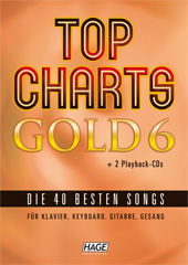 Top Charts Gold 6 (mit 2 CDs + Midifiles, USB-Stick)