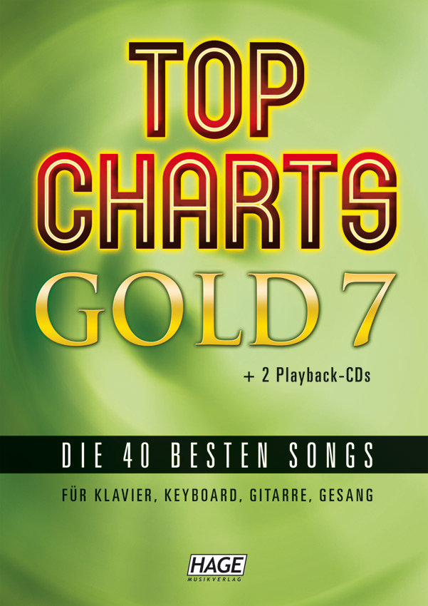 Top Charts Gold 7 (mit 2 CDs + Midifiles, USB-Stick)