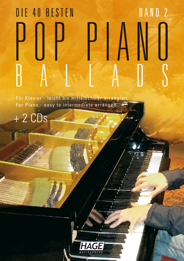 Pop Piano Ballads 2 (with 2 CDs + Midifiles, USB-Stick)