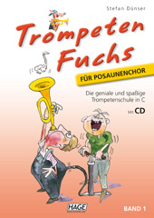 Trompeten Fuchs Volume 1 in C for trombone choir (with CD) Pages 1