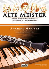 Ancient masters for clarinet in Bb and piano/organ