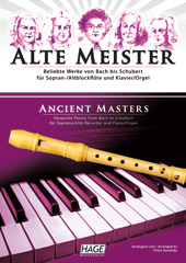 Ancient masters for soprano/alto recorder and piano/organ