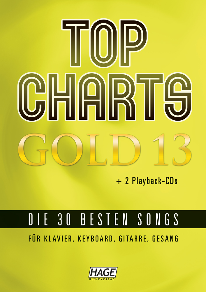 Top Charts Gold 13 (mit 2 CDs + Midifiles, USB-Stick)