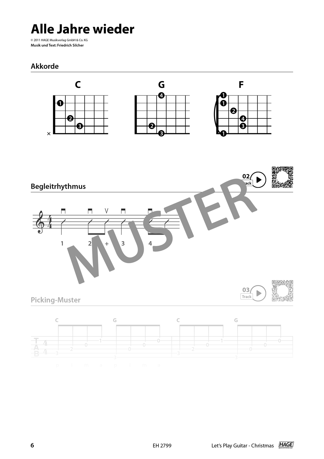 Let's Play Guitar Christmas (with QR-Codes) Pages 4