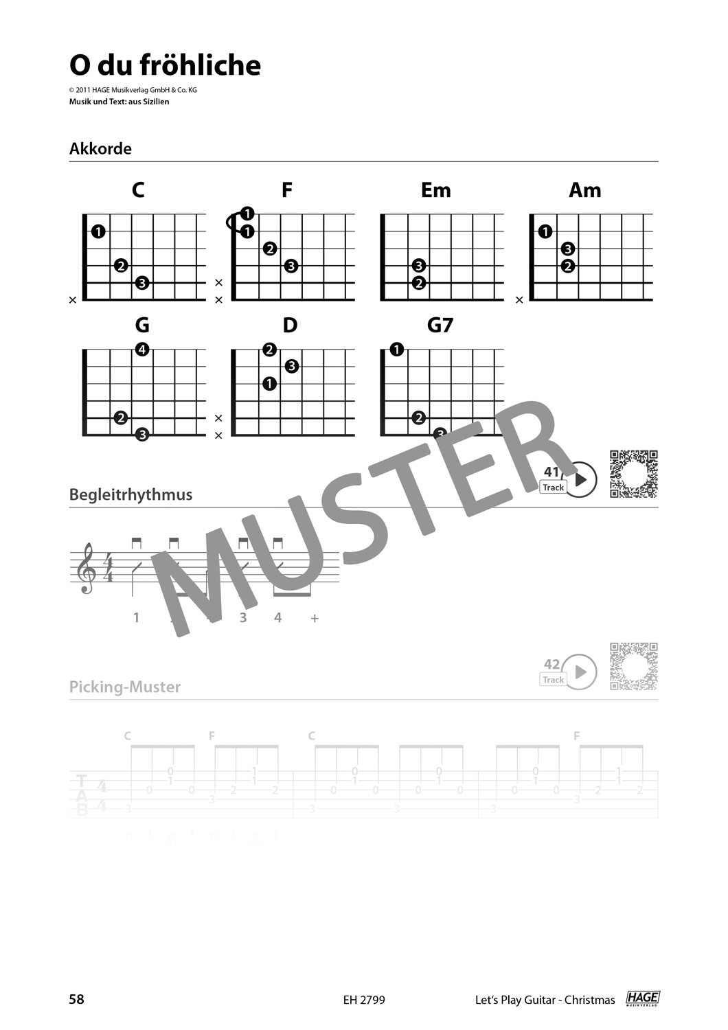 Let's Play Guitar Christmas (with QR-Codes) Pages 7