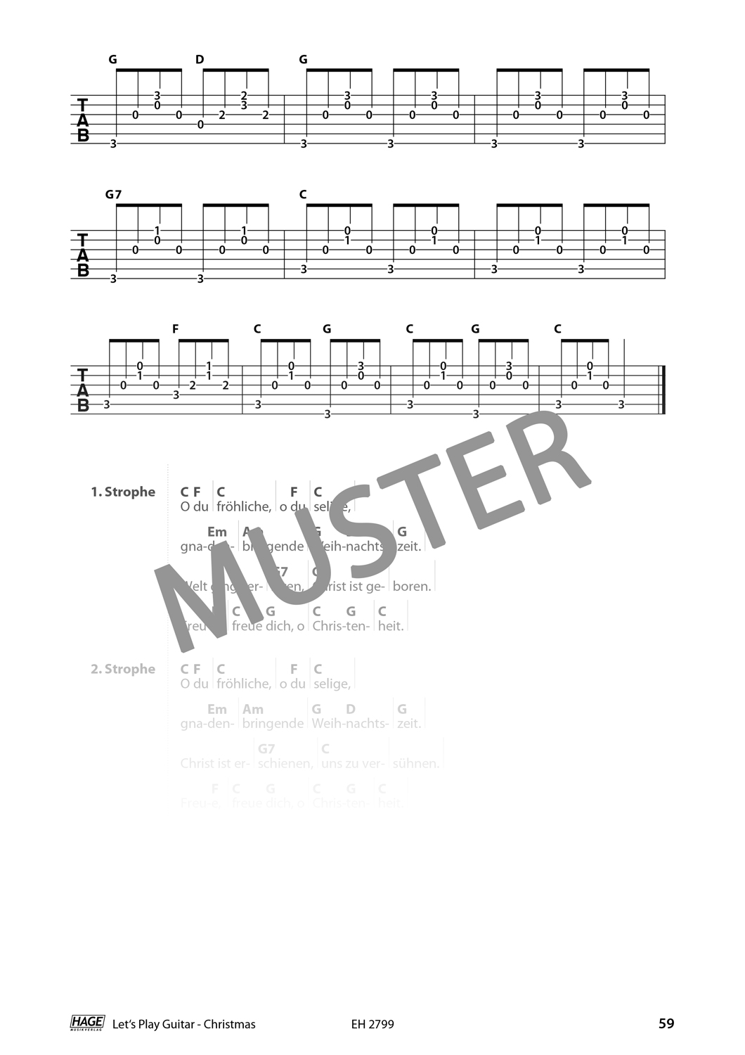Let's Play Guitar Christmas (with QR-Codes) Pages 8