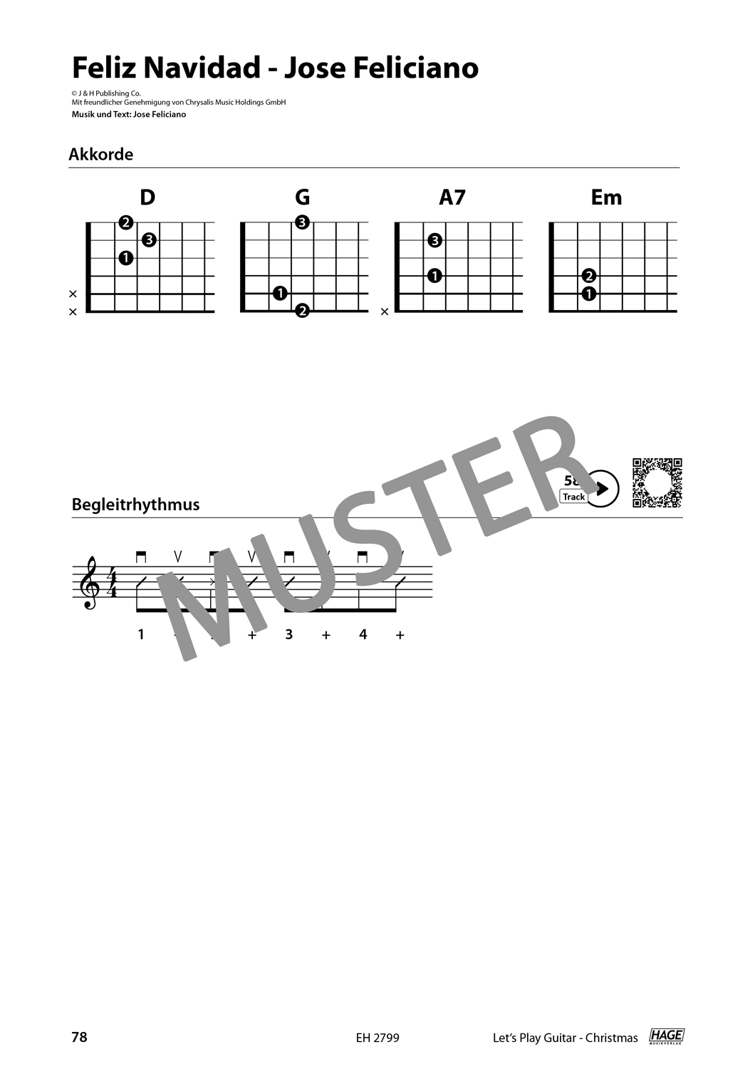 Let's Play Guitar Christmas (with QR-Codes) Pages 9